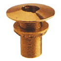 "1 1/4"" NPT BRNZ THRU HULL W/NUT"