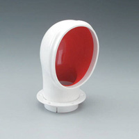 4in STANDARD PVC COWL VENT - RED INTERIOR