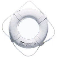 WHITE LIFE RING 19in W,STRAPS