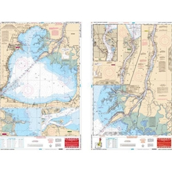 2 SIDED WATER PROOF CHART OF ST CLAIR & ST CLAIR RIVER