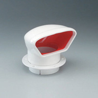 NICRO 3in LO-PROFILE PVC COWL VENT - RED INTERIOR