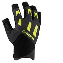 A glove engineered for wet work with synthetic leather on the fingers and a silicon grip closure tucked under wrist to avoid snags.  PERFORMANCE REGULATE(TM) Breathable corduroy nylon on the back of the hand and an open-finger design keep sweat away and promote grip.  ARMORED CONSTRUCTION(TM) Using a gun cut pattern, PVC overlay on palms, and molded knuckle protection, we've created a serious work glove with rugged construction that stands up to constant abrasion.  RESPONSIVE FIT(TM) Cut to reduce bulk, promote articulation, and work with seals and watches, this glove stretches to fit with use